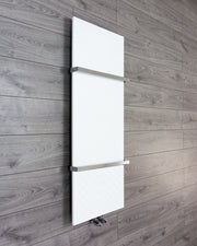 450mm Wide INNO Vertical Style White or Black Designer Heated Towel Rail Radiator HTR,WHITE / 1200mm