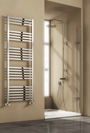 Reina Designer Vasto Vertical Chrome Heated Towel Rail Steel Radiator