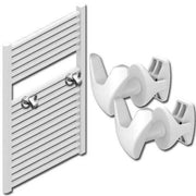 V Shape Peg Extra Hanger Hooks For Heated Towel Rail Radiators White / Chrome,White