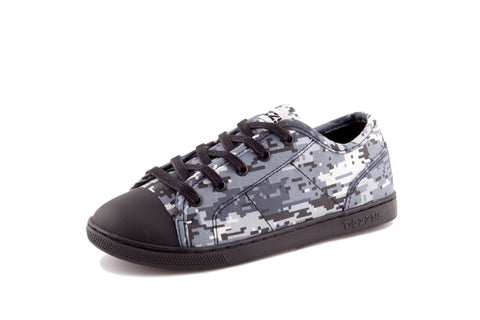 Dezzy Marley Grey Digi Camo - Children's Sneakers | Dezzys Footwear promoting - Unity, Equality, and Fashion