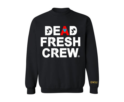 "Dead Fresh Crew Highlighted ""A"" Crewneck - Black"