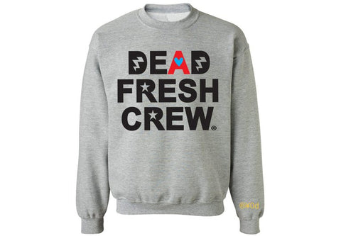 "Dead Fresh Crew Highlighted ""A"" Crewneck - Heather Grey"