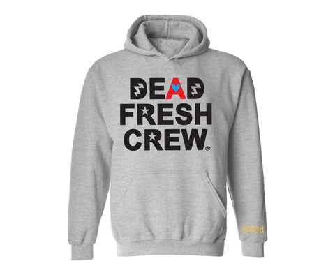 "Dead Fresh Crew Highlighted ""A"" Hoodie - Heather Grey"