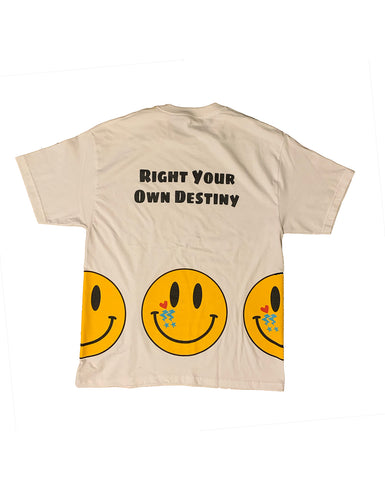 HBS Happy Face Tee - Multi Face