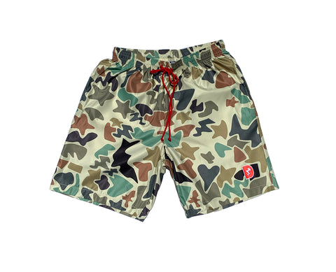 Heart Bolt Star Camouflage Swim Trunks (Palm Springs)