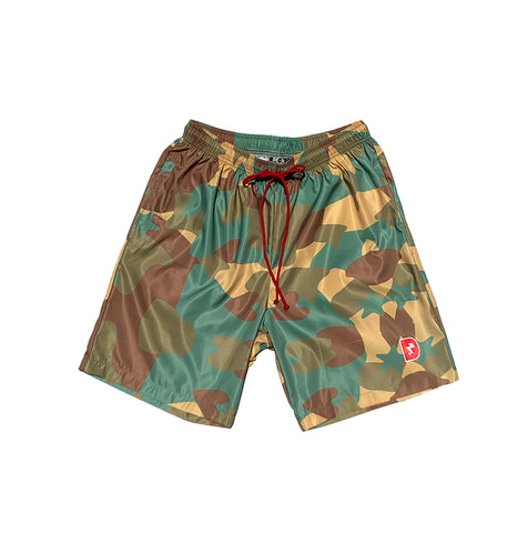 Heart Bolt Stars Camouflage Swim Trunks (Tulum)