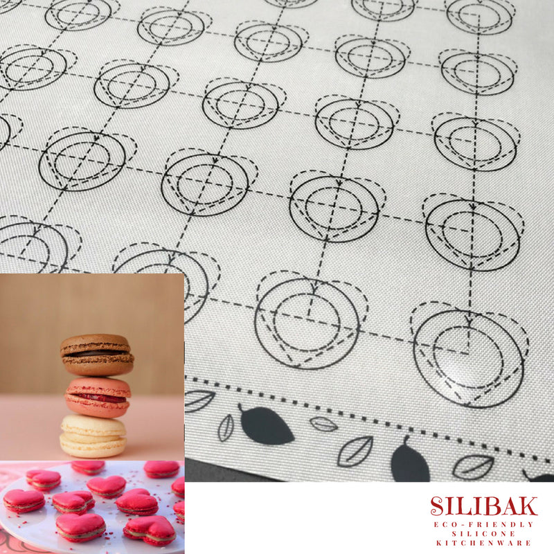 35 CIRCLES/HEARTS SHAPE ECO-FRIENDLY SILICONE COOKIE MACARON & PASTRY BAKING MAT