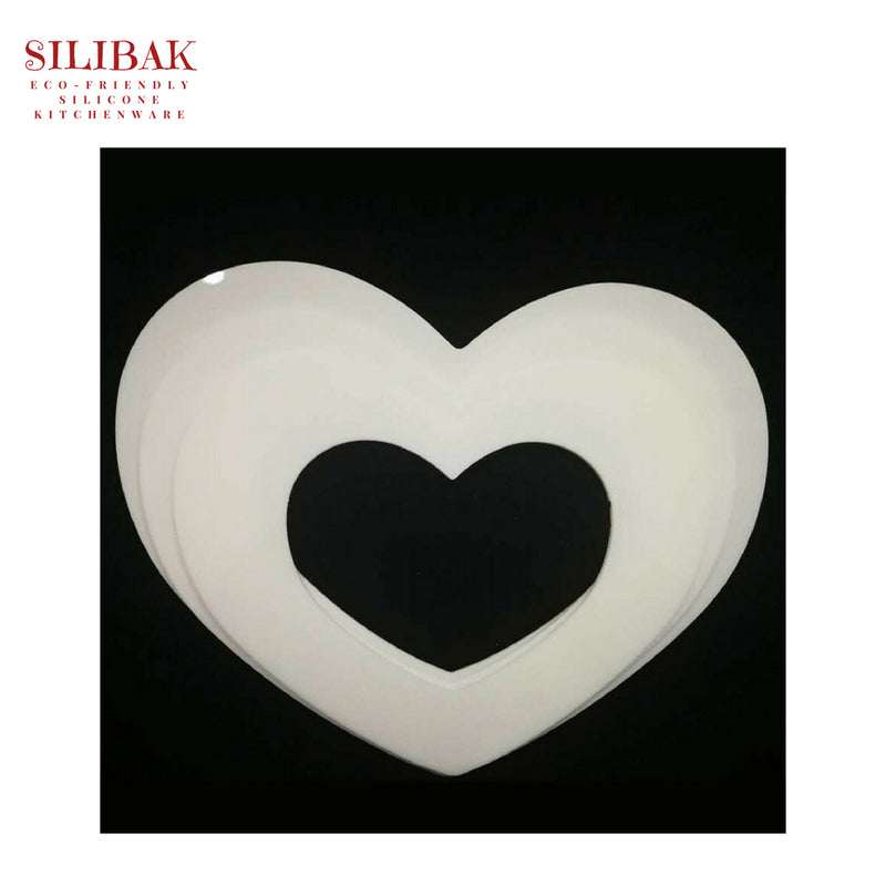1 PC HEART SHAPES ECO-FRIENDLY THICK ACRYLIC STENCIL CAKE KITS (6'' TO 12'') - SILIBAK