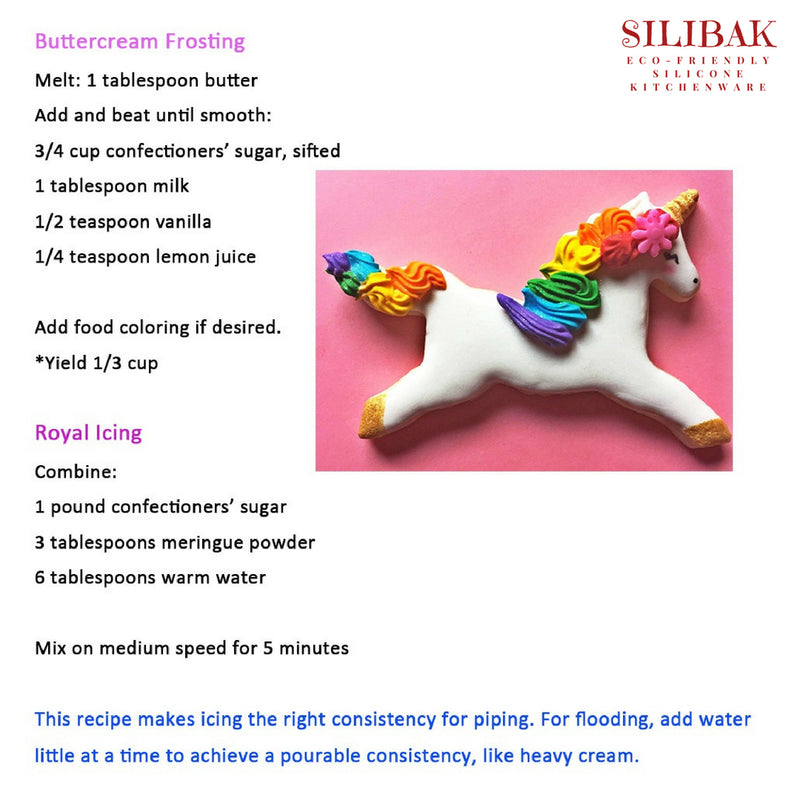 3 PCS/SET UNICORN HEAD EASY ECO-FRIENDLY COOKIE CUTTERS