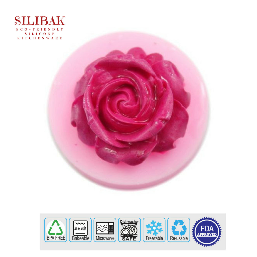 EASY 3D ECO-FRIENDLY SILICONE ROSE MOLD - SILIBAK