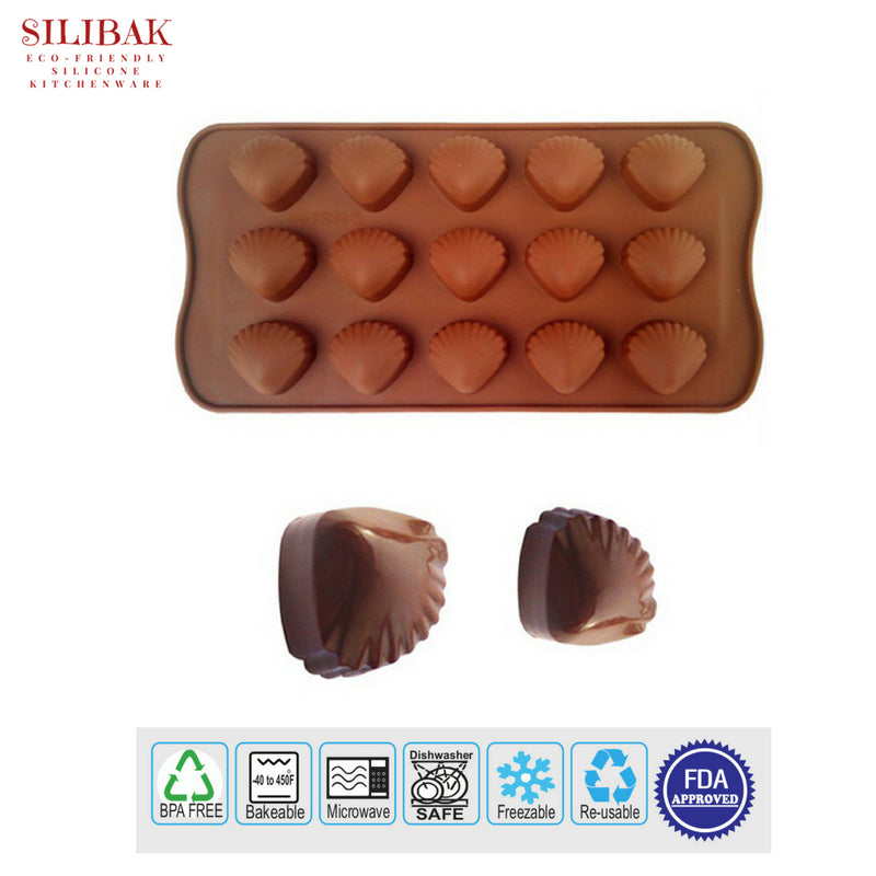 EASY FLEXIBLE ECO-FRIENDLY 3D SILICONE SHELL MOLD ( 15 CAVITIES) - SILIBAK
