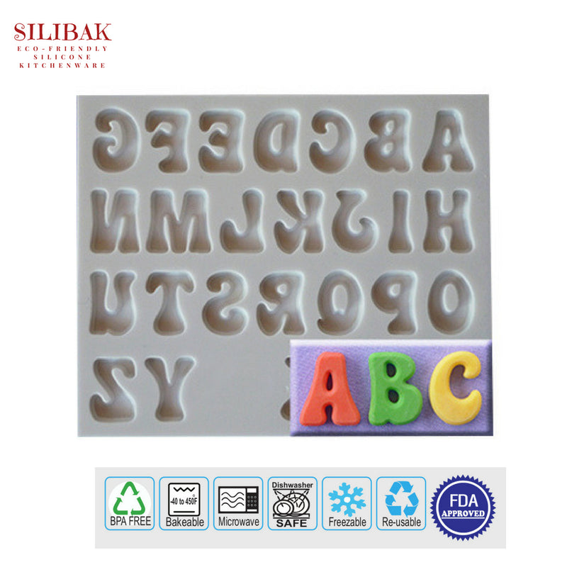 EASY FLEXIBLE ECO-FRIENDLY SILICONE 3D CAPITAL LETTERS MOLD - SILIBAK
