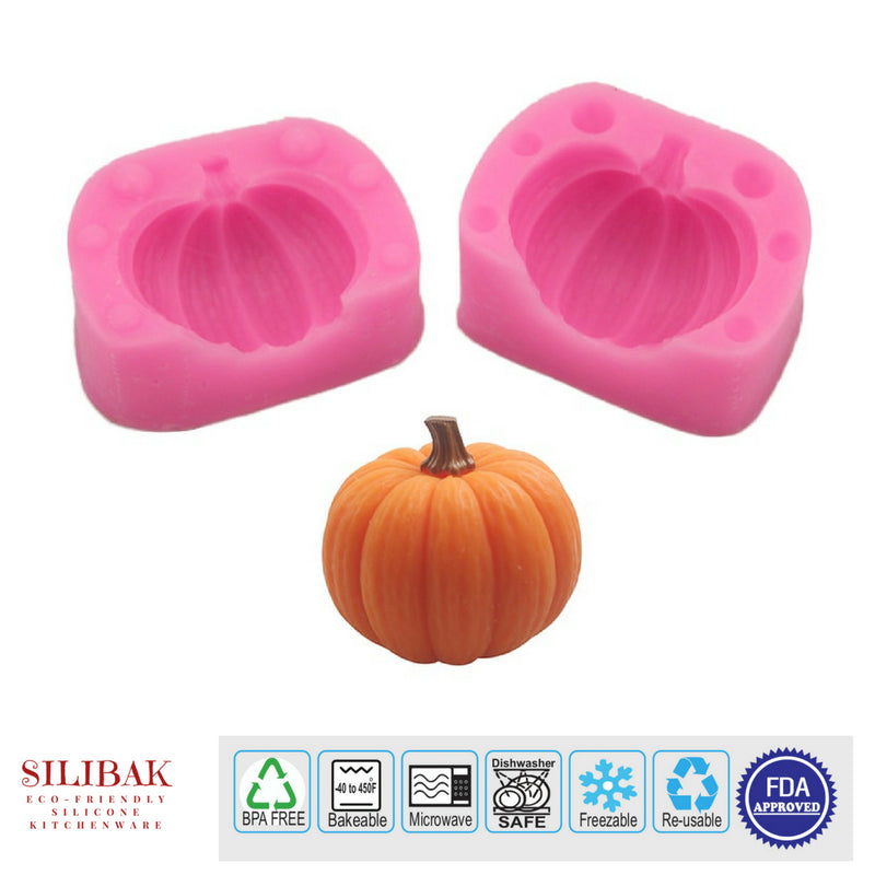 EASY ECO-FRIENDLY SILICONE 3D PUMPKIN SHAPE MOLD - SILIBAK