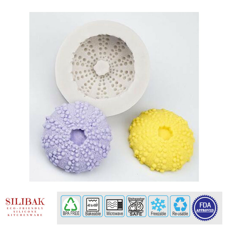 3D ROUND SHELL EASY FLEXIBLE ECO-FRIENDLY SILICONE MOLD - SILIBAK