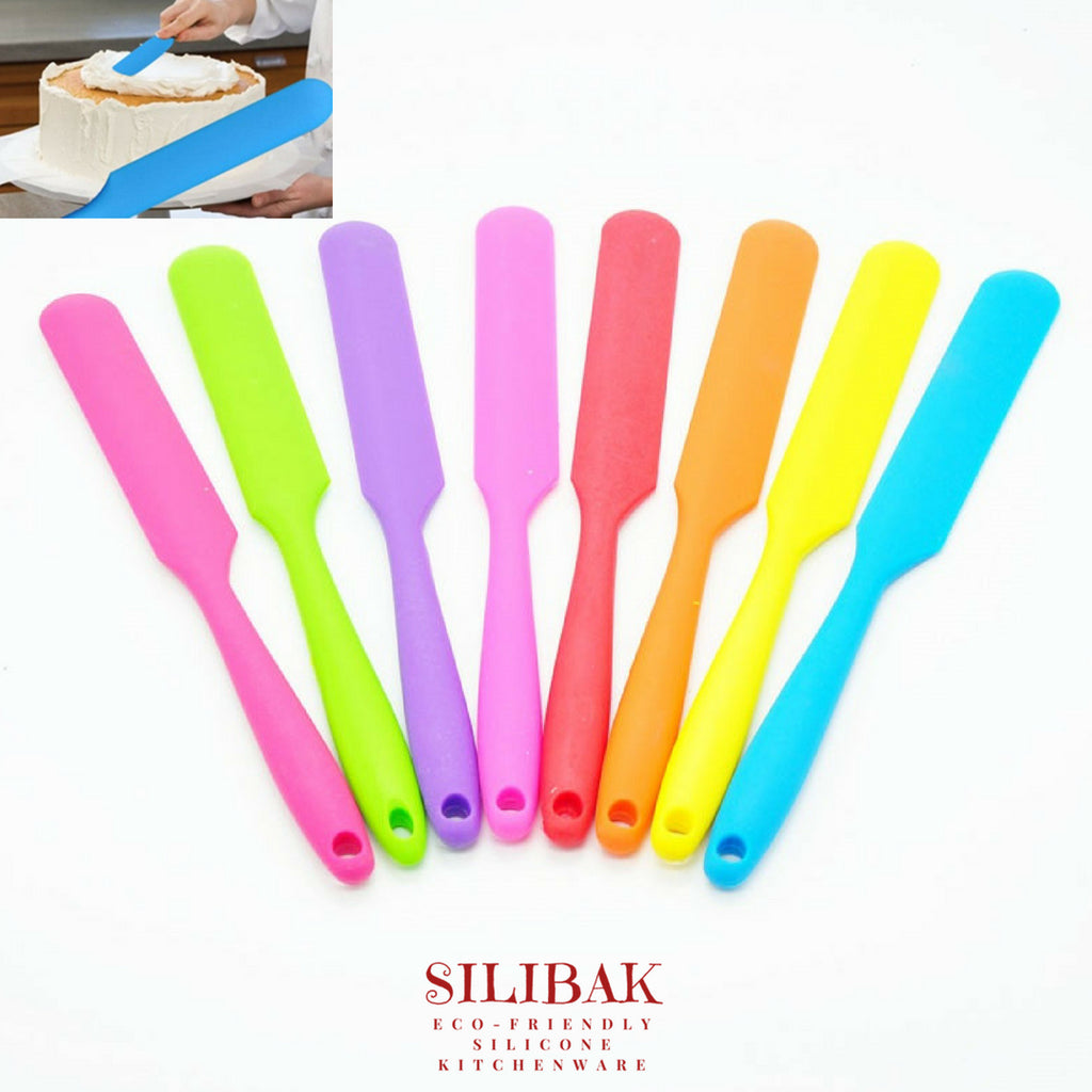 LONG HANDLE ECO-FRIENDLY SILICONE SPATULA (1 PC - 8 COLORS) - SILIBAK