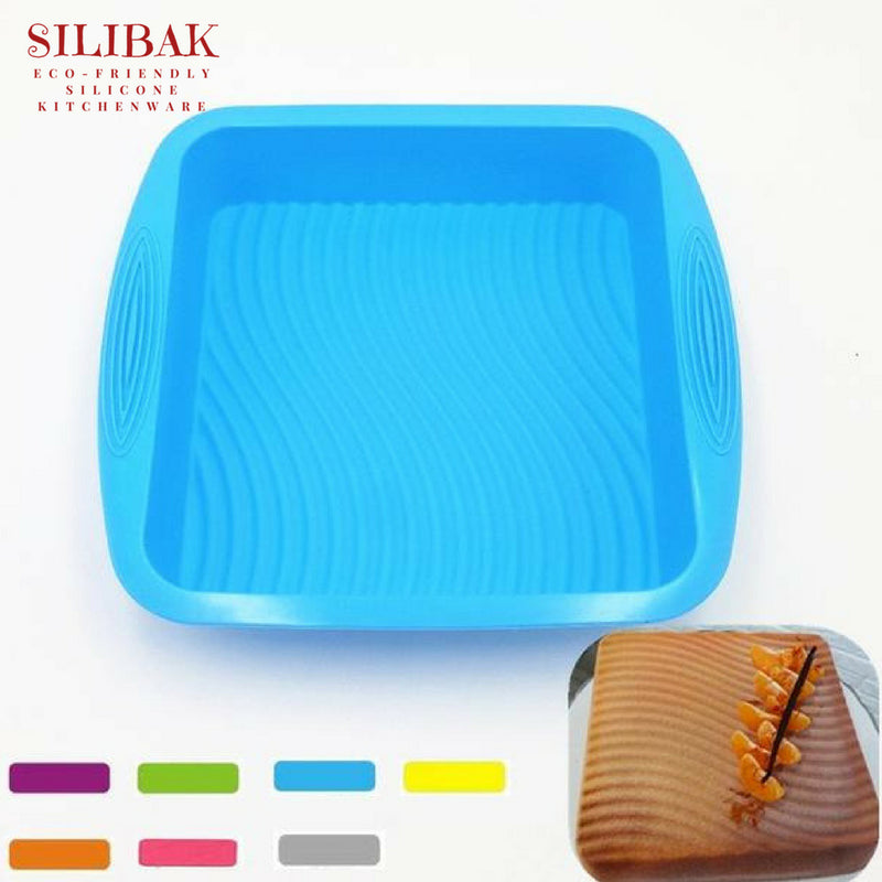 EASY FLEXIBLE BIG 3D 10'' SQUARE SHAPE ECO-FRIENDLY SILICONE CAKE MOLD - SILIBAK