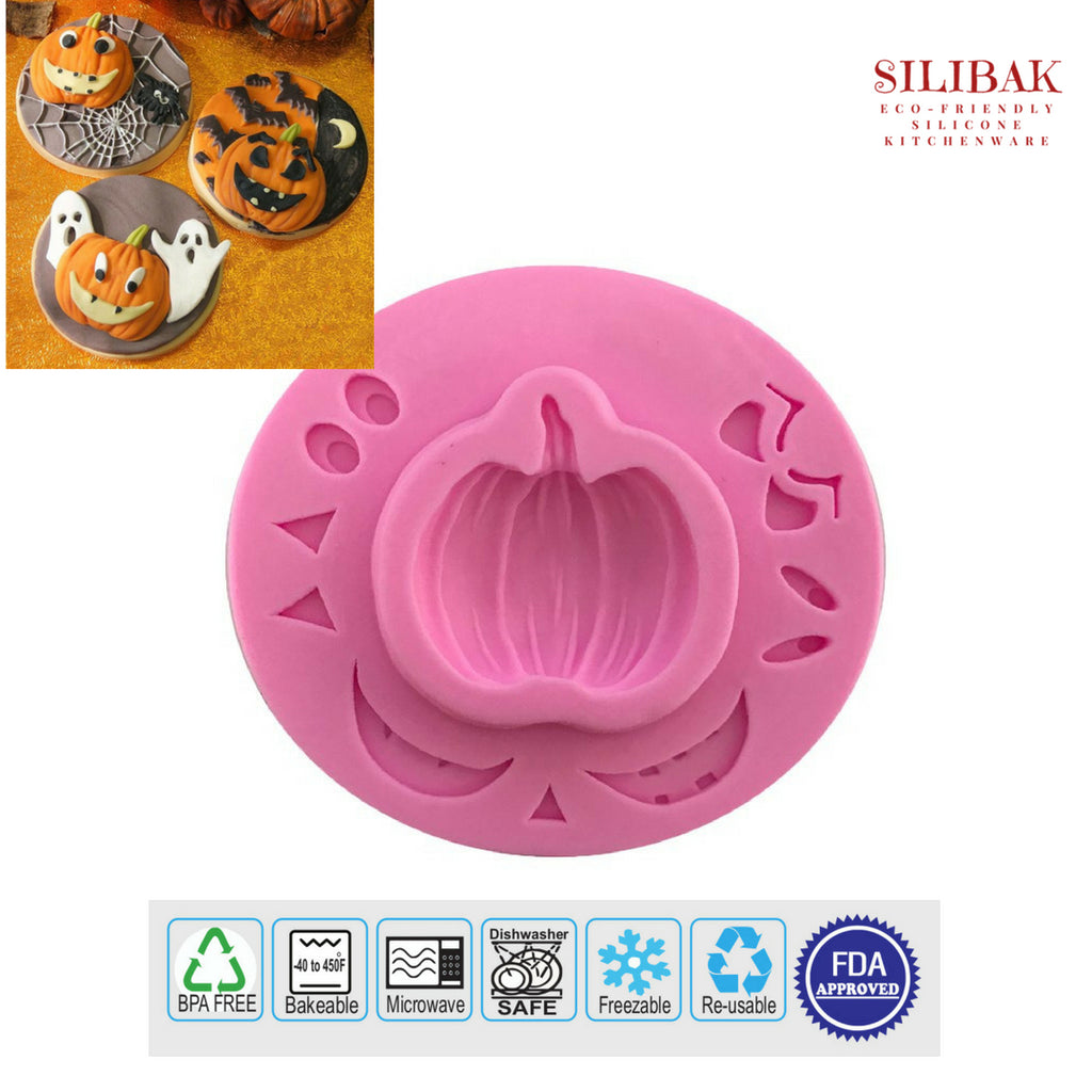 EASY ECO-FRIENDLY SILICONE 3D 3 PUMPKIN SHAPE MOLD - SILIBAK