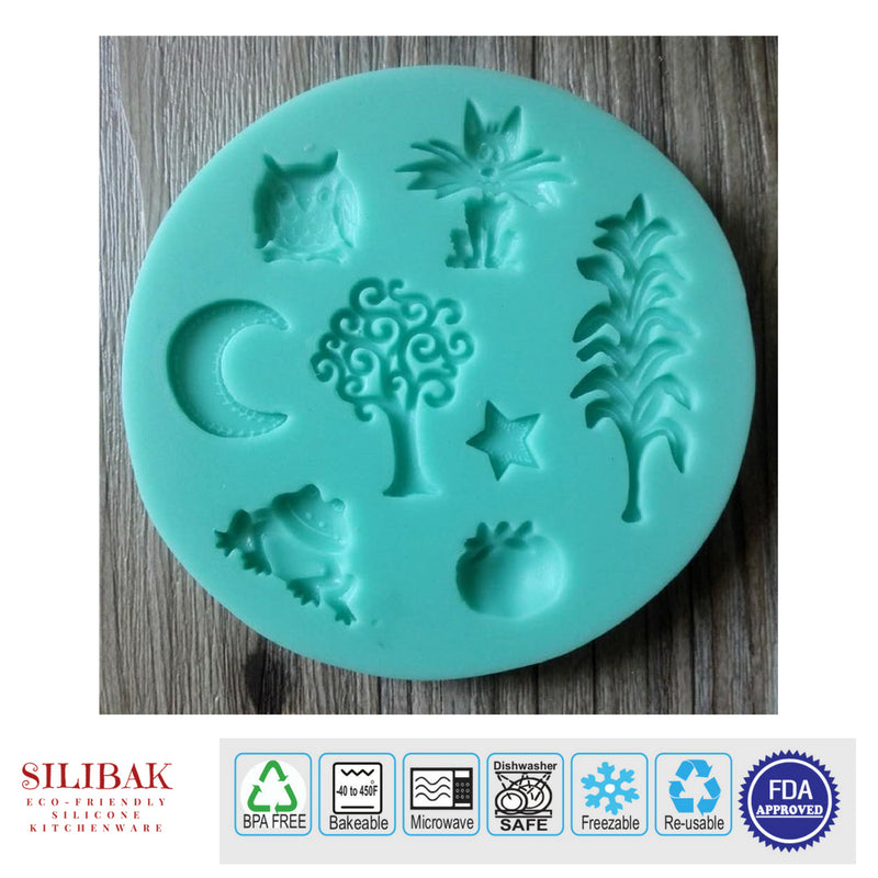 EASY ECO-FRIENDLY SILICONE 3D 8 FUN SHAPES HALLOWEEN MOLD - SILIBAK