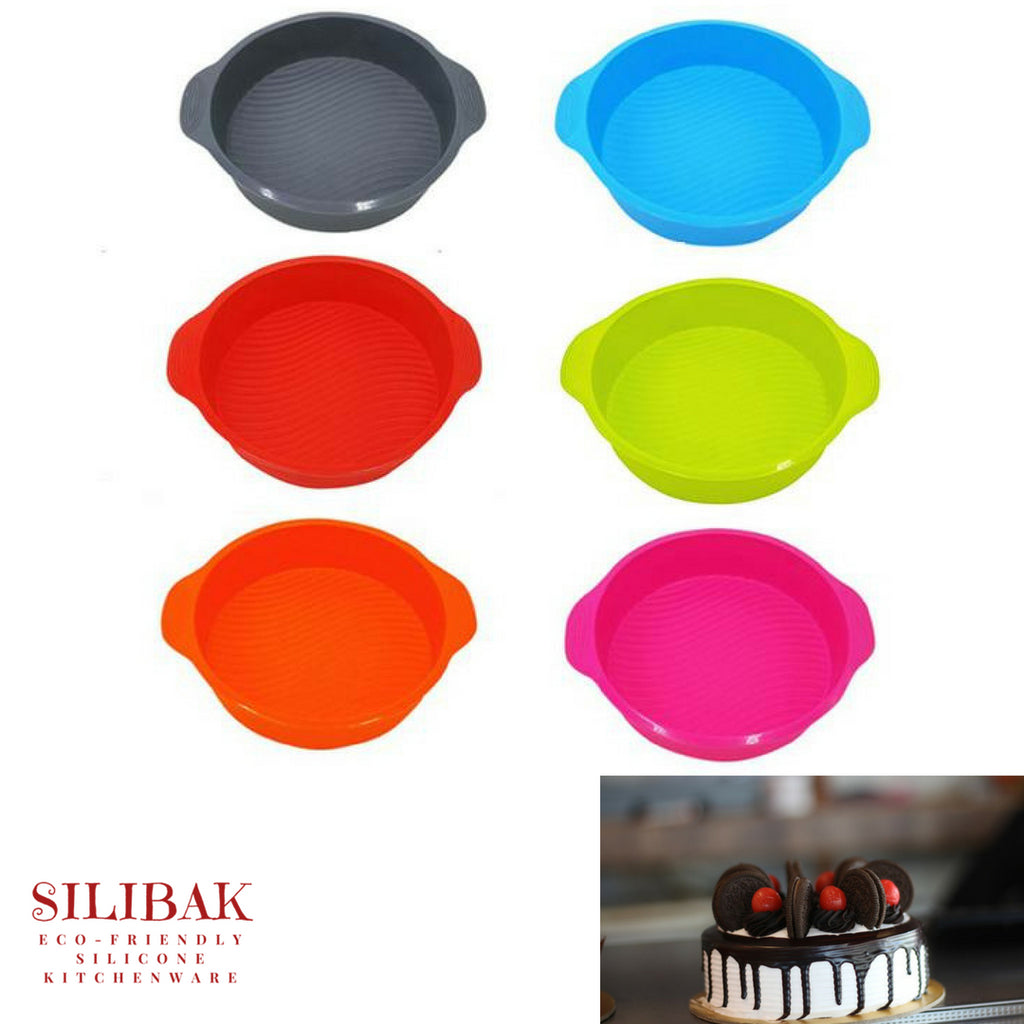 EASY FLEXIBLE 3D BIG ROUND SHAPE ECO-FRIENDLY SILICONE CAKE MOLD 6 COLORS - SILIBAK