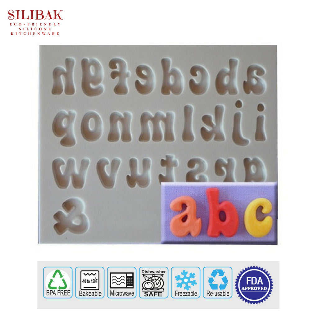 EASY FLEXIBLE ECO-FRIENDLY SILICONE 3D LETTERS MOLD - SILIBAK