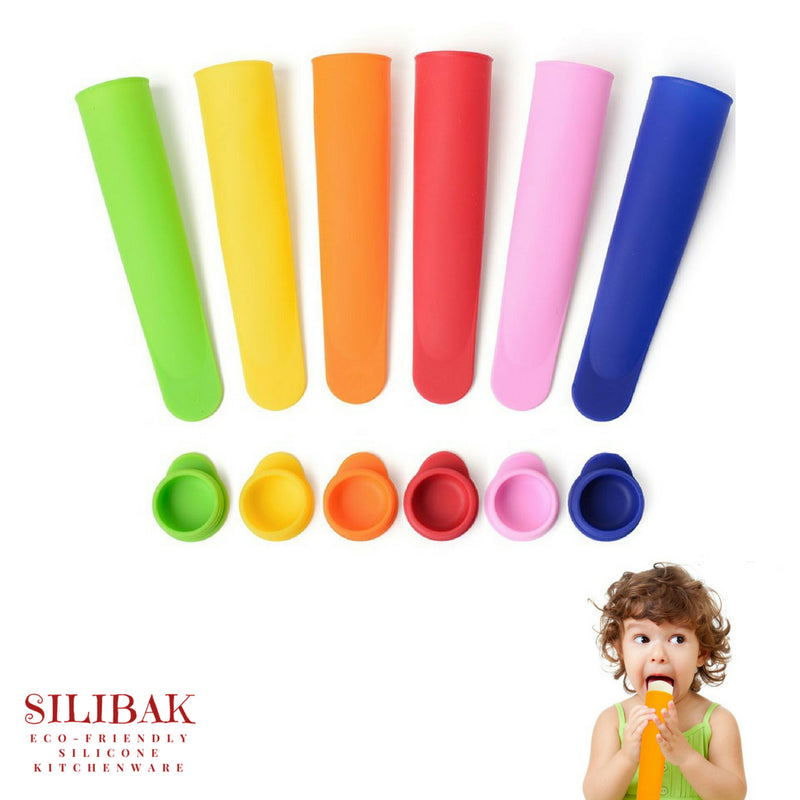 6 PCS/SET ECO-FRIENDLY SILICONE TREATS & POPSICLES TUBES - SILIBAK