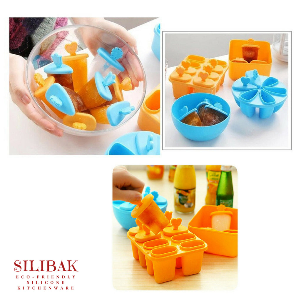 6 & 8 CAVITIES ECO-FRIENDLY SILICONE POPSICLE MOLD - SILIBAK