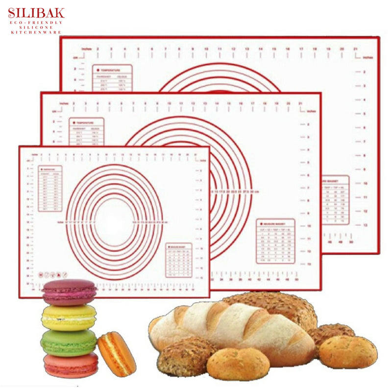 KNEADING ROLLING & BAKING ECO-FRIENDLY SILICONE MAT (3 SIZES) - SILIBAK