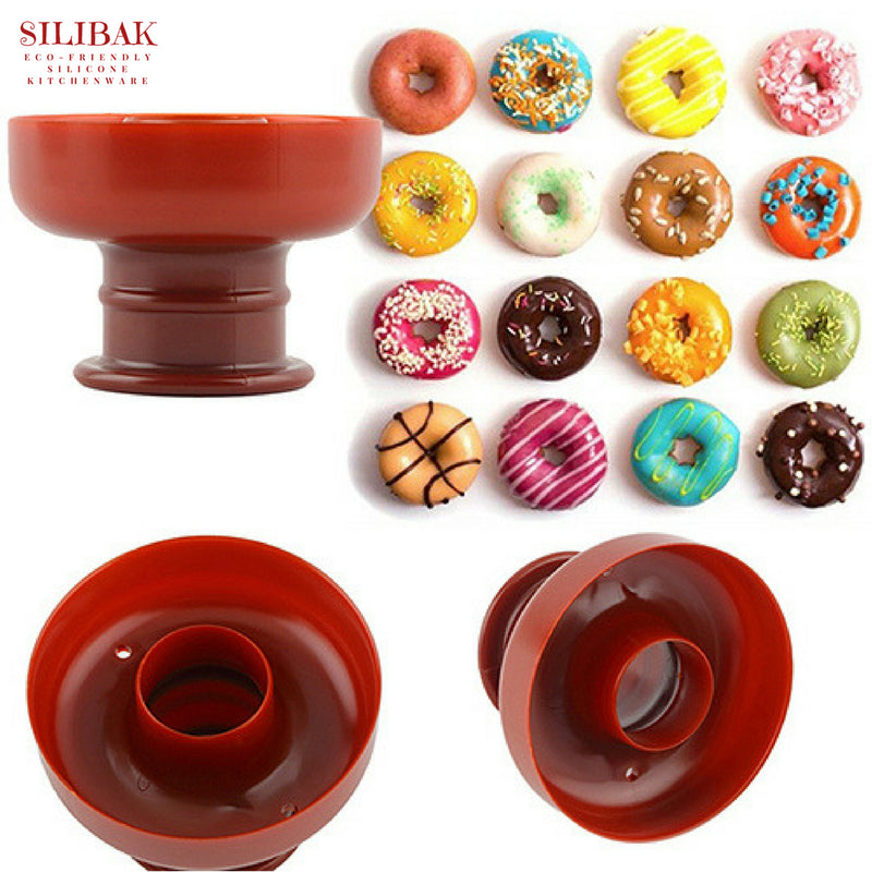 EASY FLEXIBLE ECO-FRIENDLY SILICONE DONUTS CUTTER & SHAPER - SILIBAK
