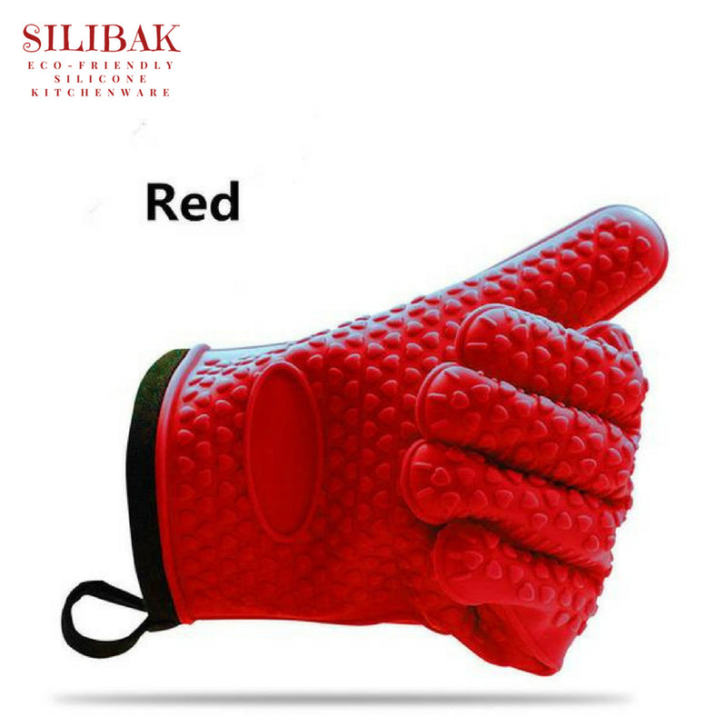 HIGH HEAT RESISTANT ECO-FRIENDLY SILICONE & COTTON GLOVES - SILIBAK