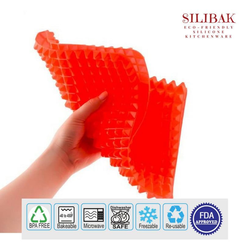 EASY FLEXIBLE ECO-FRIENDLY SILICONE PYRAMID FAT WISE BAKING MAT - SILIBAK