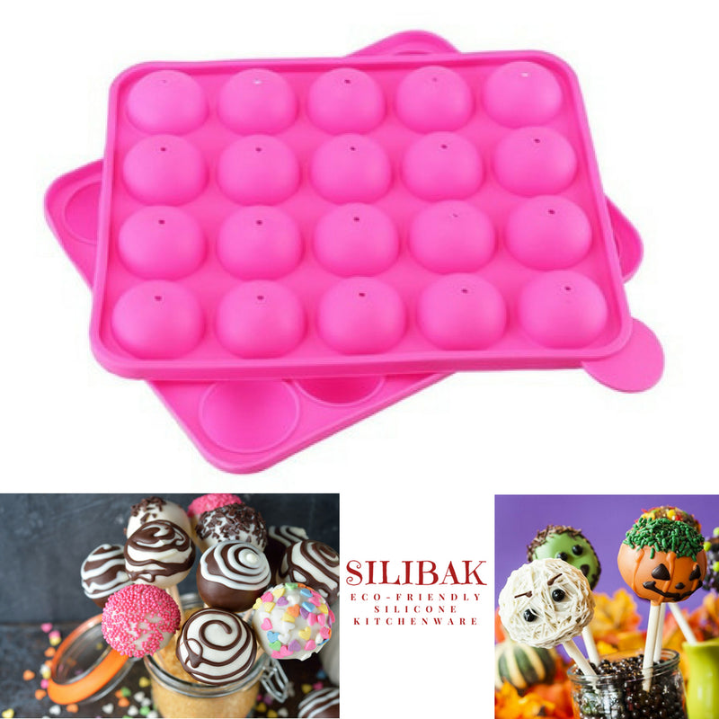 CAKE POPS EASY FLEXIBLE ECO-FRIENDLY MOLD SET (20 CAVITIES) - SILIBAK