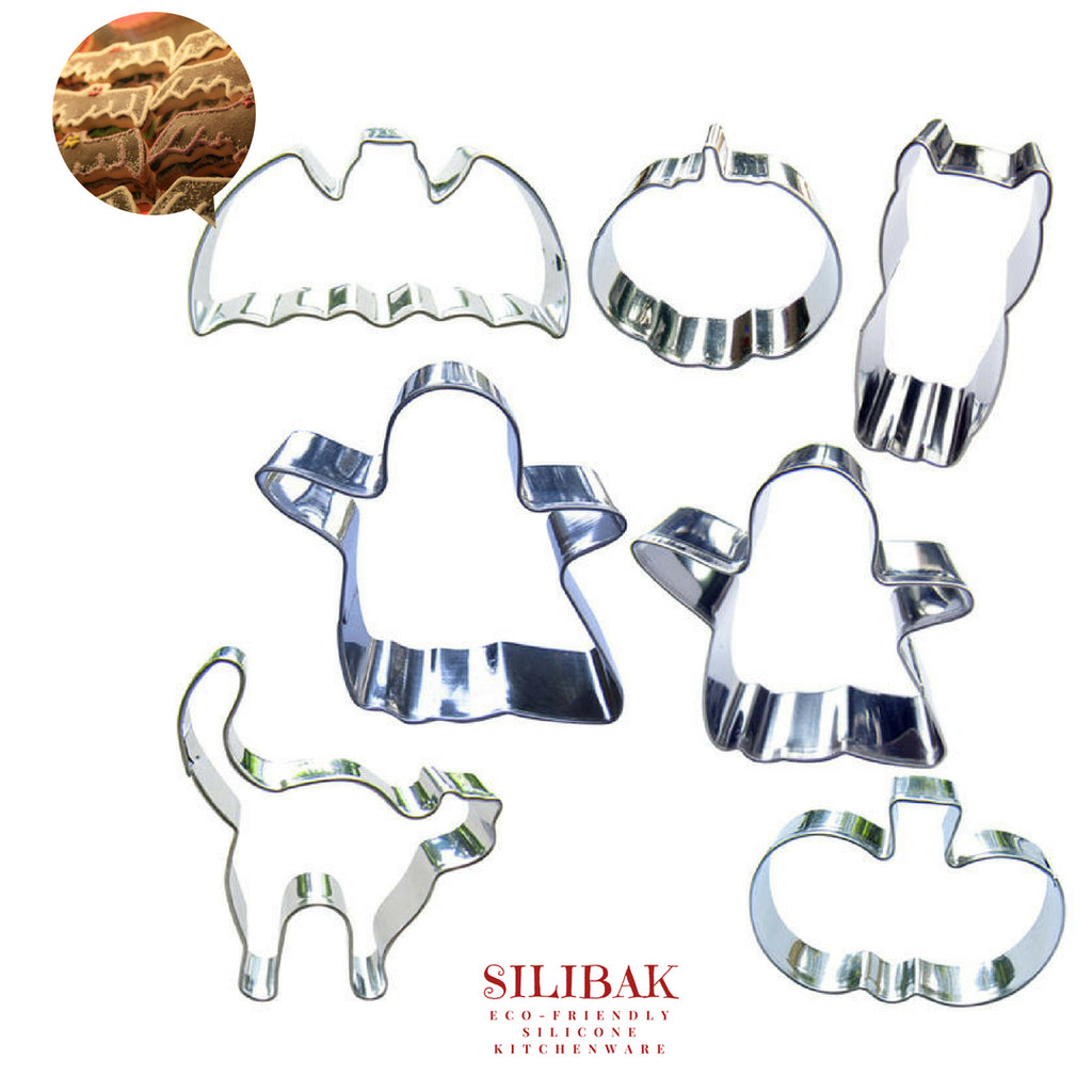7 PCS/SET EASY ECO-FRIENDLY HALLOWEEN COOKIE CUTTER - SILIBAK