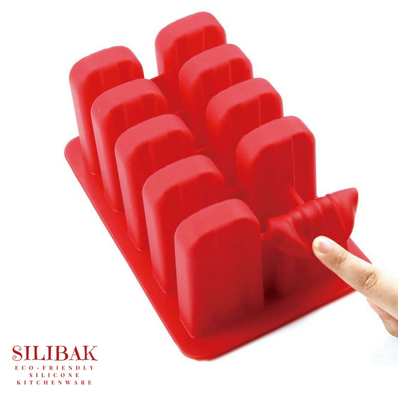10 CAVITIES ECO-FRIENDLY SILICONE POPSICLE TRAY - SILIBAK