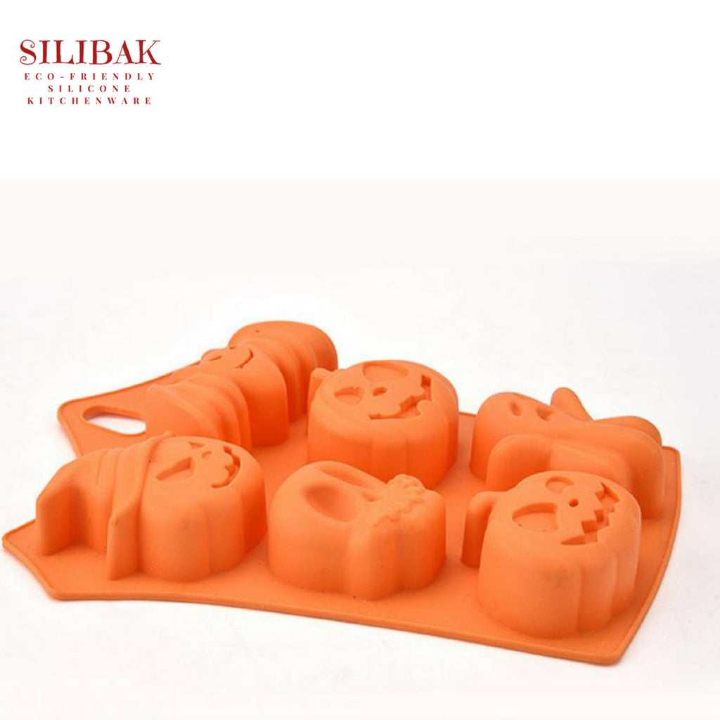 EASY FLEXIBLE ECO-FRIENDLY 3D SILICONE HALLOWEEN MOLD (6 CAVITIES) - SILIBAK