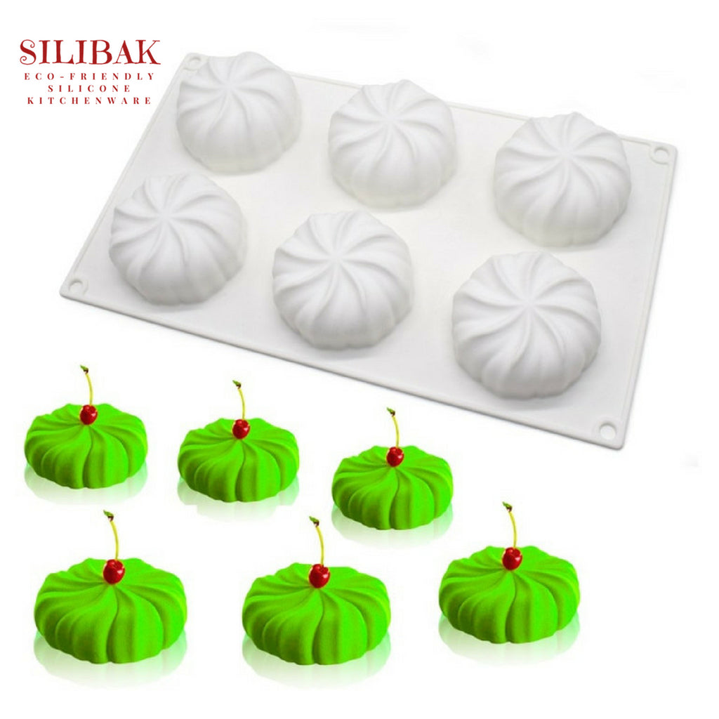EASY FLEXIBLE ECO-FRIENDLY SILICONE 3D LANTERN PUMPKIN MOLD (6 CAVITIES) - SILIBAK