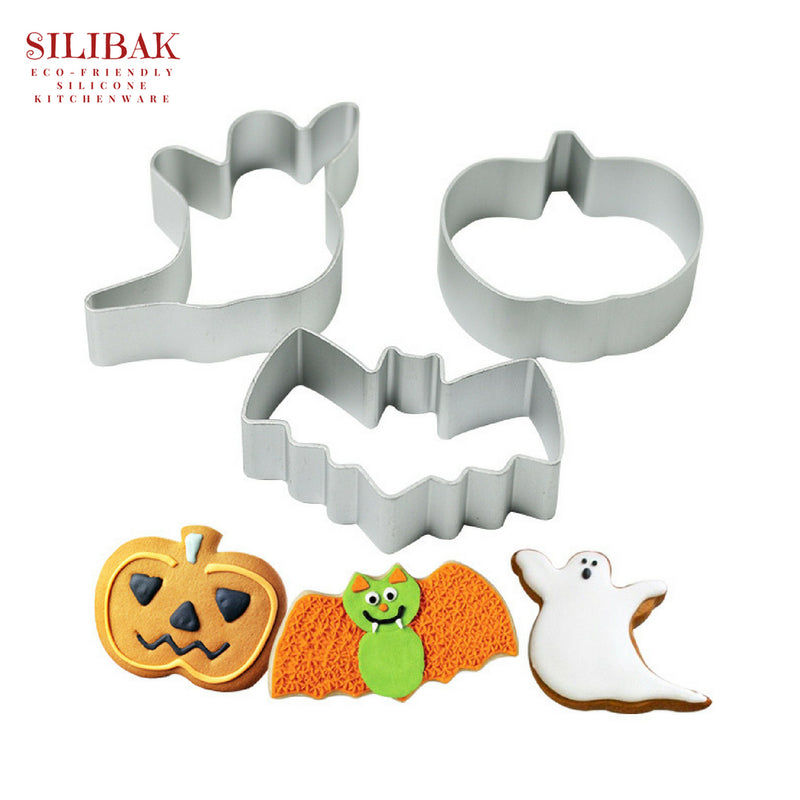 3 PCS/SET EASY ECO-FRIENDLY HALLOWEEN COOKIE CUTTER - SILIBAK