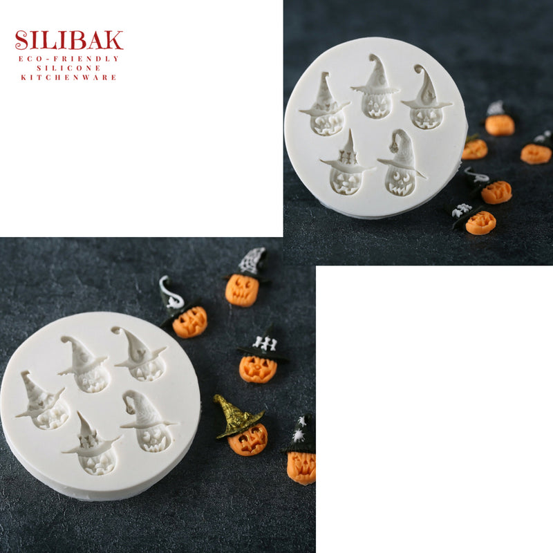 EASY ECO-FRIENDLY SILICONE 3D 5 FUN SHAPES PUMPKIN MOLD - SILIBAK