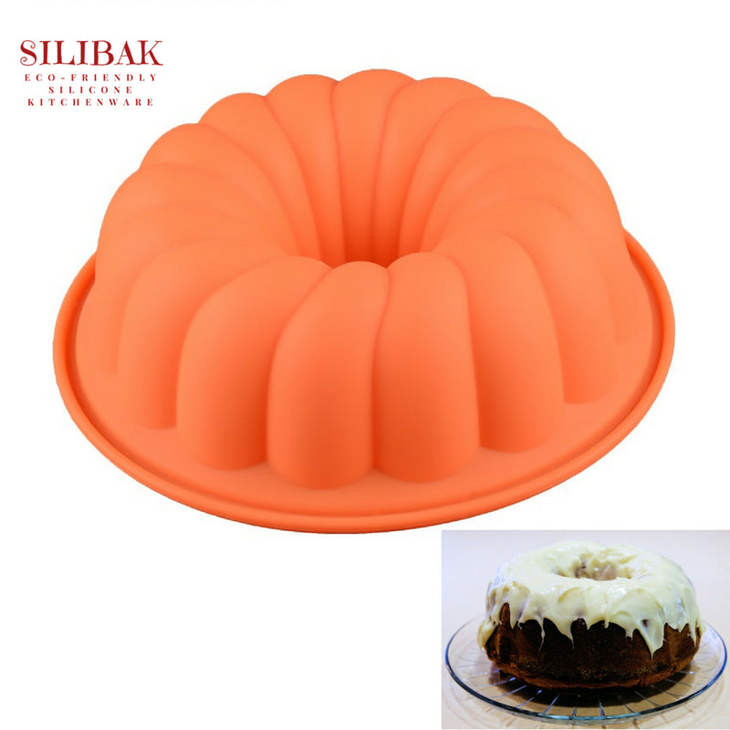 EASY FLEXIBLE 3D HALLOWEEN PUMPKIN SHAPE ECO-FRIENDLY CAKE MOLD - SILIBAK