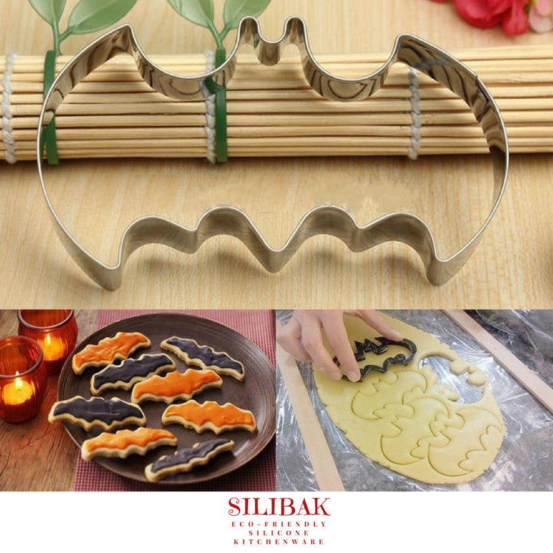 EASY ECO-FRIENDLY BAT VAMPIRE COOKIE CUTTER - SILIBAK