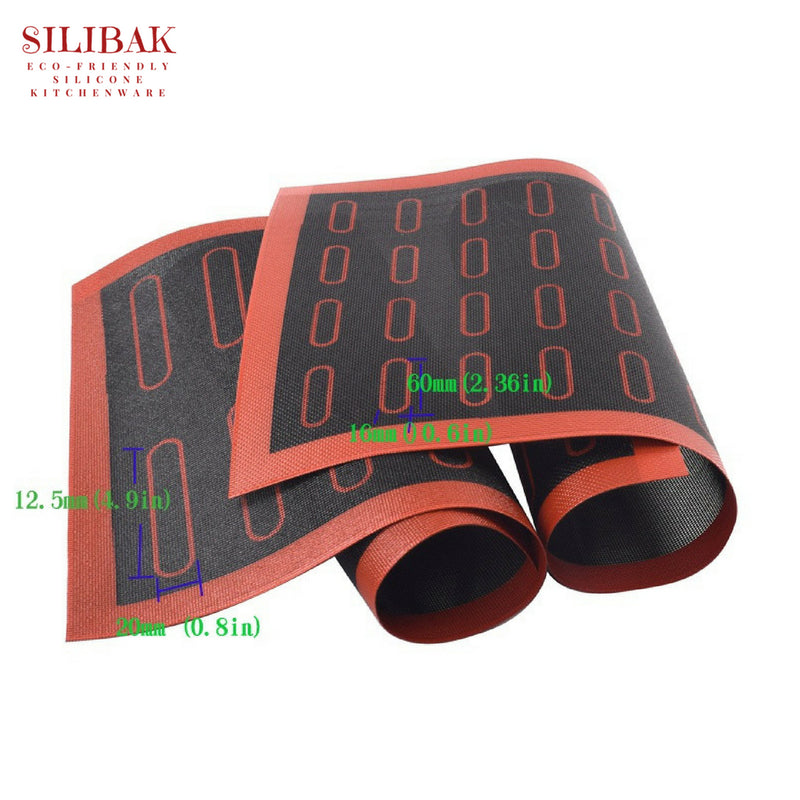 ECLAIRS PASTRY & BREAD ECO-FRIENDLY SILICONE BAKING MAT (18 & 44 PRE DESIGNED SPACES) - SILIBAK