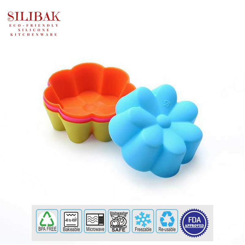 36 PCS/SET EASY FLEXIBLE 9 SHAPES ECO-FRIENDLY SILICONE CUPCAKES AND MUFFINS CUPS - SILIBAK