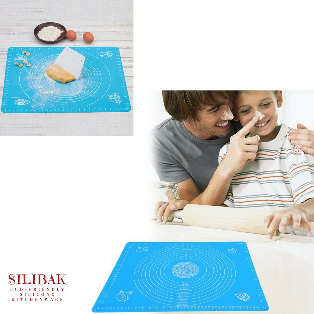 EXTRA LARGE EASY FLEXIBLE ECO-FRIENDLY ROLLING & BAKING MAT (2 SIZES - 4 COLORS) - SILIBAK