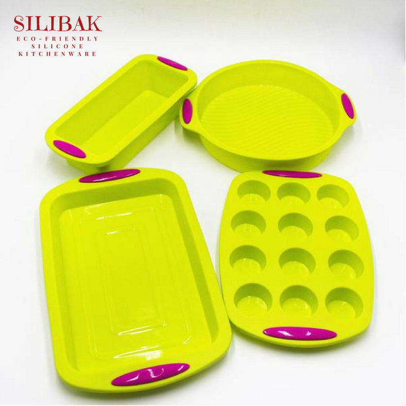 EASY FLEXIBLE PERFECT ECO-FRIENDLY SILICONE BAKING KIT ( 3 & 4 PIECES) - SILIBAK