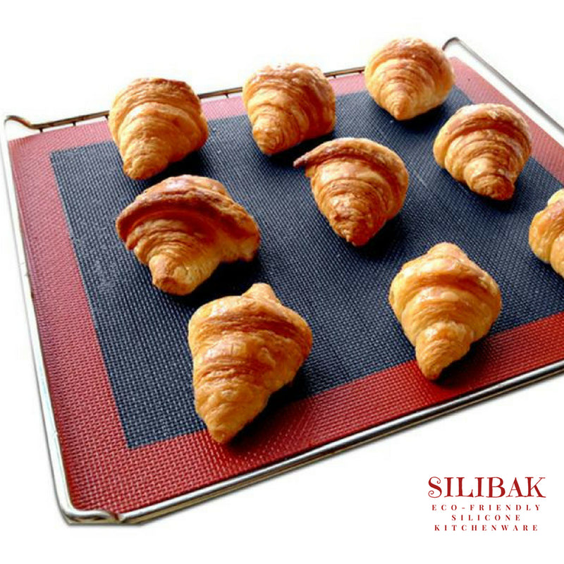 EASY FLEXIBLE PROFESSIONAL ECO-FRIENDLY SILICONE PERFORATED BAKING MAT (2 SIZES) - SILIBAK