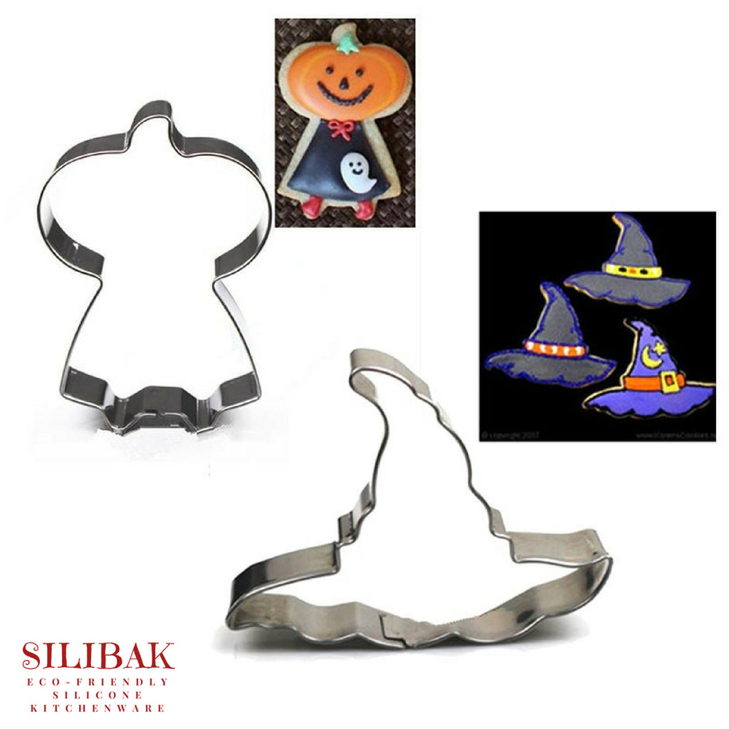 2 PCS/SET EASY ECO-FRIENDLY HALLOWEEN COOKIE CUTTER - SILIBAK