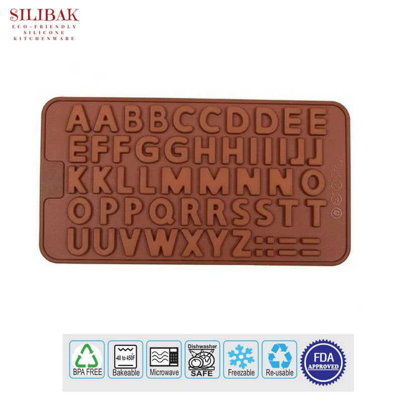 EASY FLEXIBLE ECO-FRIENDLY 3D SILICONE ALPHABET MOLD - SILIBAK