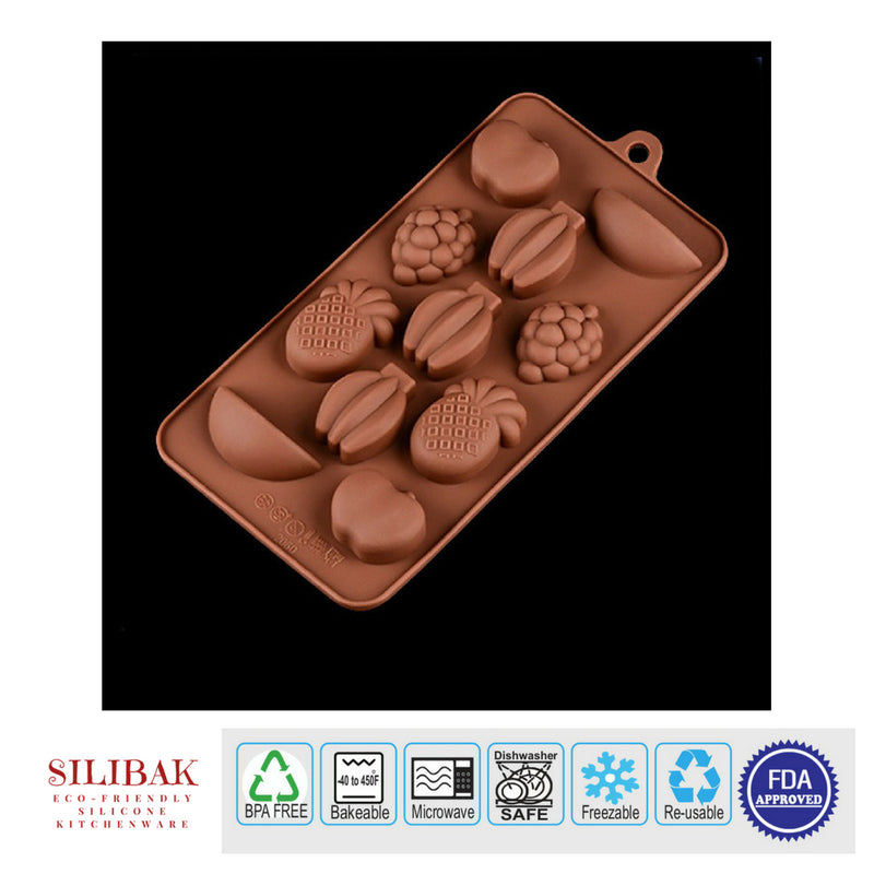 EASY FLEXIBLE ECO-FRIENDLY 3D SILICONE FRUIT MOLD (11 CAVITIES) - SILIBAK
