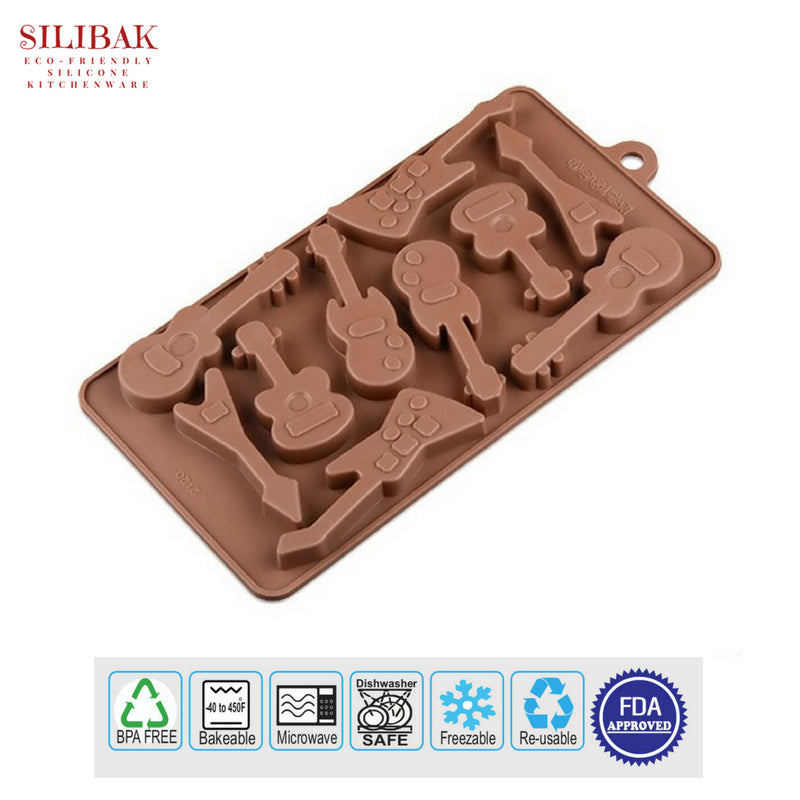 EASY FLEXIBLE ECO-FRIENDLY 3D SILICONE GUITAR MOLD (10 CAVITIES) - SILIBAK