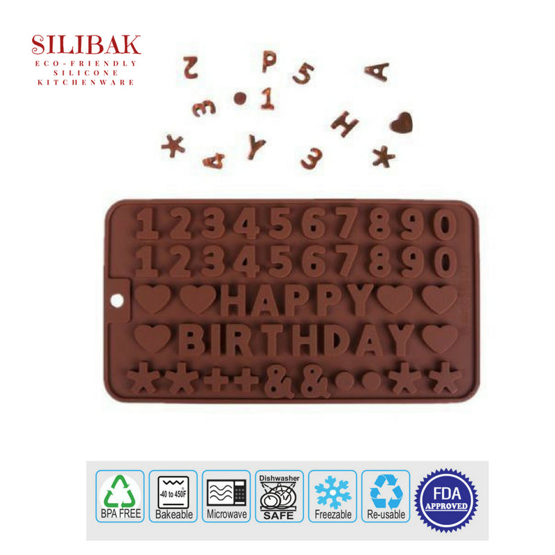 EASY FLEXIBLE ECO-FRIENDLY 3D SILICONE HAPPY BIRTHDAY MOLD - SILIBAK