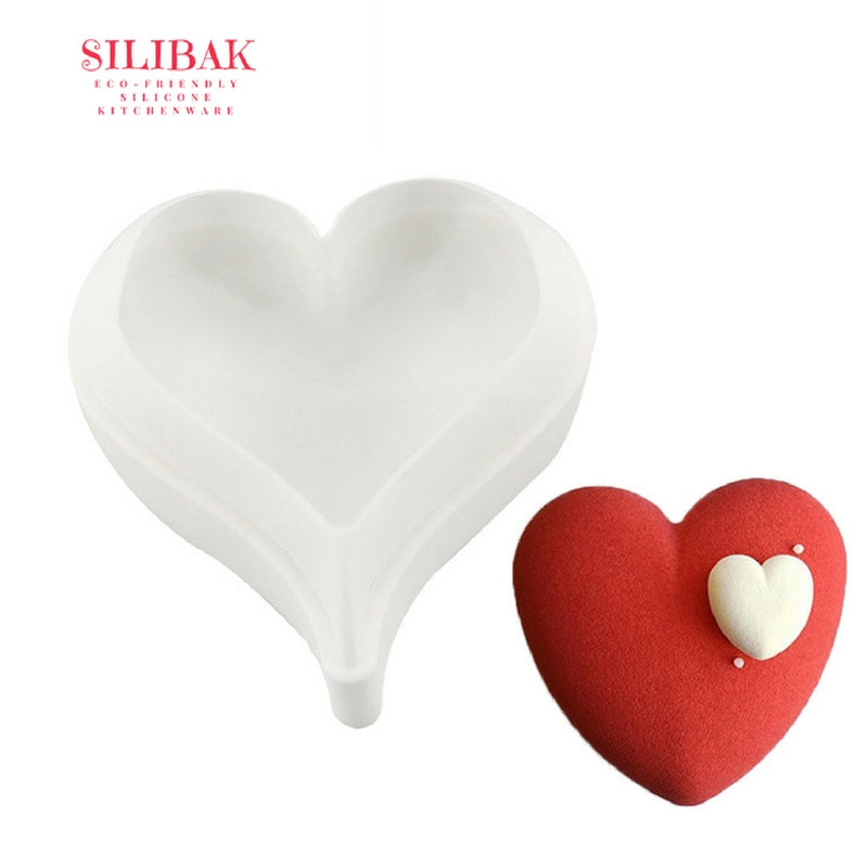 EASY 3D ROUNDED HEART SHAPE ECO-FRIENDLY SILICONE CAKE MOLD - SILIBAK